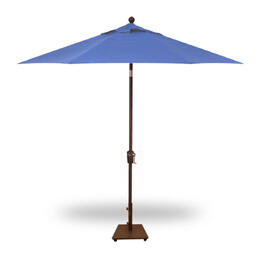 Treasure Garden 9' Push Button Tilt Umbrella - Bronze with Sky