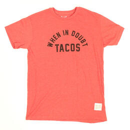 Original Retro Brand Men's When In Doubt Tacos Short Sleeve T Shirt
