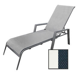North Cape Rio True White Chaise Lounge Chair