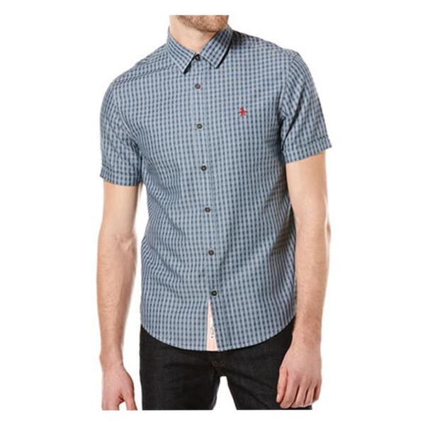Original Penguin Men's End On End Check Short Sleeve Shirt
