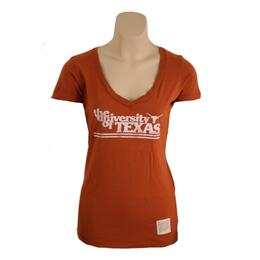 Original Retro Brand Women's Ut Deep V-neck Tee
