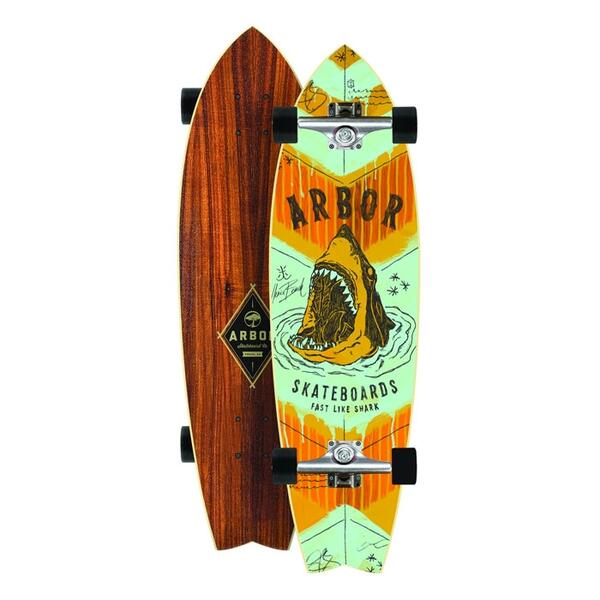 Arbor GB Sizzler Shark Complete Longboard '14