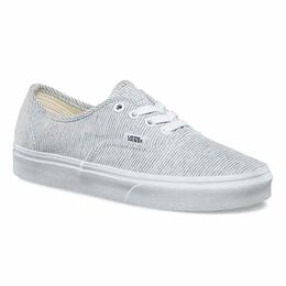 Vans Women's Jersey Authentic Grey Stripe Shoes