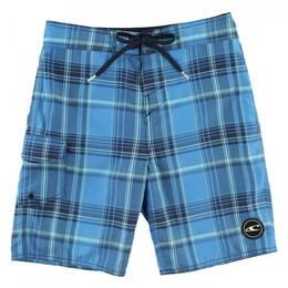 O'Neill Boy's Santa Cruz Plaid Swim Trunks