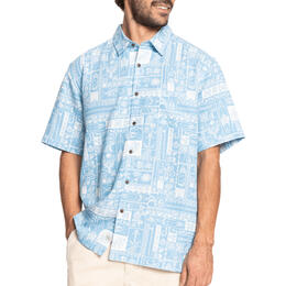 Quiksilver Men's Waterman Total Island Short Sleeve Shirt