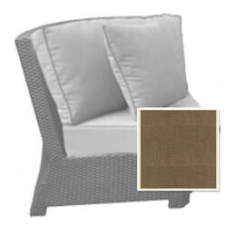 North Cape Cabo 45 Degree Sectional Corner Chair Cushion - Canvas Taupe W/ Linen Canvas Welt