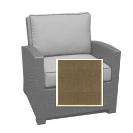 North Cape Cabo Club Chair Cushion - Canvas Taupe W/ Linen Canvas Welt