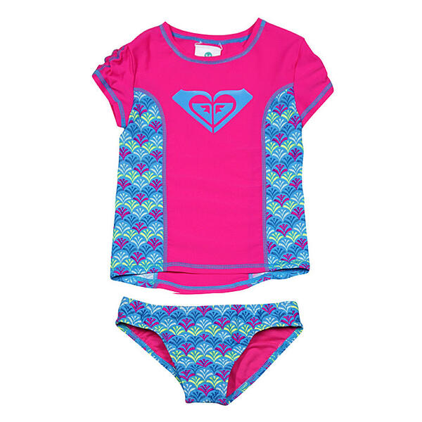 Roxy Girl's Island Tiles Rashguard Set