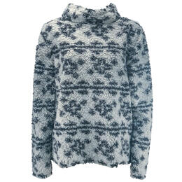 Dylan By True Grit Women's Crosses Frosty Tipped Pile Cozy Pullover