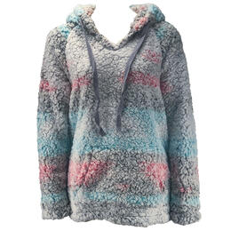 Dylan By True Grit Women's Frosted Tip Cozy Hoodie
