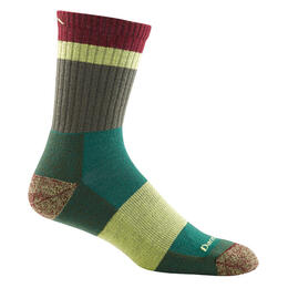 Darn Tough Vermont Men's Heady Stripe Micro Crew Light Cushion Sock Green