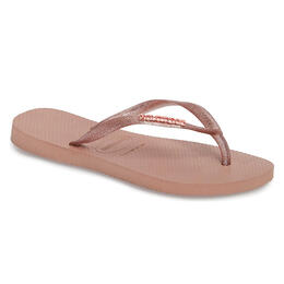 Havaianas Women's Slim Logo Metallic Sandals
