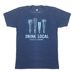 Locally Grown Clothing Men's Drink Local Beer Tap Short Sleeve T Shirt