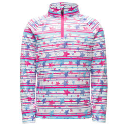 Spyder Toddler Girl's Bitsy Limitless Star Stripe Zip T Neck