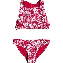 Roxy Girl's Enjoying Waves Crop Top Bikini Set