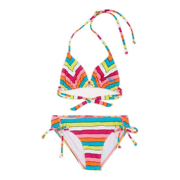 Roxy Girl's Caliente Sun Tiki Tri Swim Set