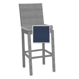 North Cape Cabo Bar Stool Cushion - Indigo w/ Dove Welt