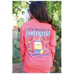 Jadelynn Brooke Women's If the Question is Sweet Tea, the Answer is Yes Longsleeve Tee