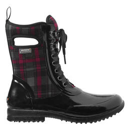 Bogs Women's Sidney Lace Up Plaid Insulated Boots