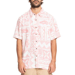 Quiksilver Men's Waterman Poke Time Short Sleeve Shirt