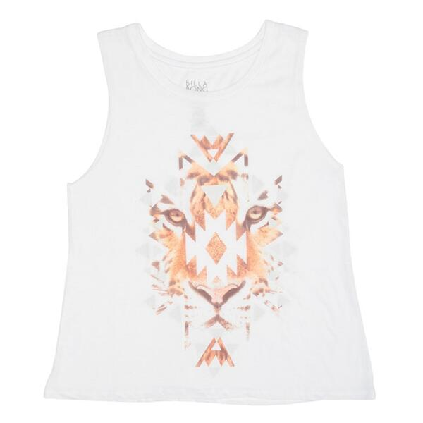Billabong Jr. Girl's Tiger Shapes Muscle Tank