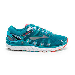 Brooks Women's Transcend 2 Running Shoes Caribbean/White/Poppy