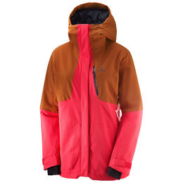 Salomon Women's QST Snow Jacket, Hibiscus