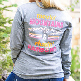 Jadelynn Brooke Women's Movin' Mountains Long Sleeve V-Neck T Shirt