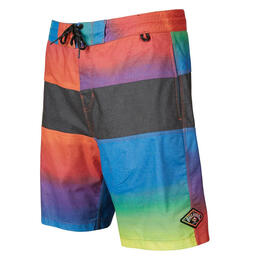 Front of Billabong Boy's Tribong Faded Lo Tides Boardshorts