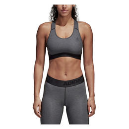 Adidas Women's Don't Rest Alphaskin Sports Bra Dark Grey Heather