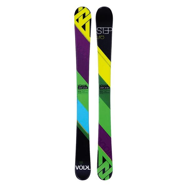 Volkl Boy's Step Jr Park And Pipe Skis with 3Motion 7.0 Bindings '14