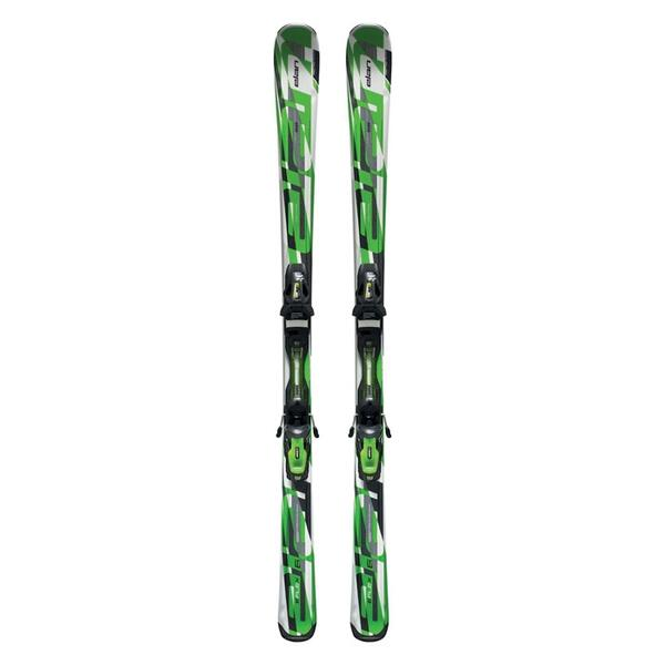 Elan Men's eFlex 6 Green All Mountain Skis with EL 10.0 QT Bindings '13