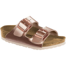 Birkenstock Kid's Arizona Metallic Birko Flor Sandals