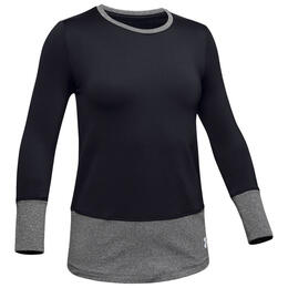 Under Armour Girl's ColdGear Armour Crew Long Sleeve Shirt