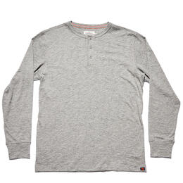 The Normal Brand Men's Slub Long Sleeve Henley Shirt