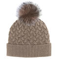Mitchies Matchings Women's Knitted Fox Pom