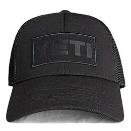 Yeti Men's Black On Black Patch Trucker Hat