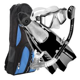 U.S. Divers Lux Mask With Purge  And Snorkel Adult Combo Set