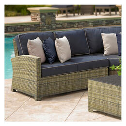 North Cape Cabo Collection Sectional Left Loveseat Frame Willow