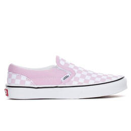 Vans Girl's Classic Slip On Youth Casual Shoes Pink