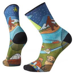 Smartwool Men's PHD Outdoor Ultra Light Monster Camping Print Crew Socks