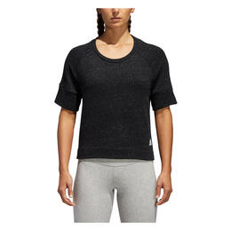 Adidas Women's S2S Short Sleeve Top Black Melange