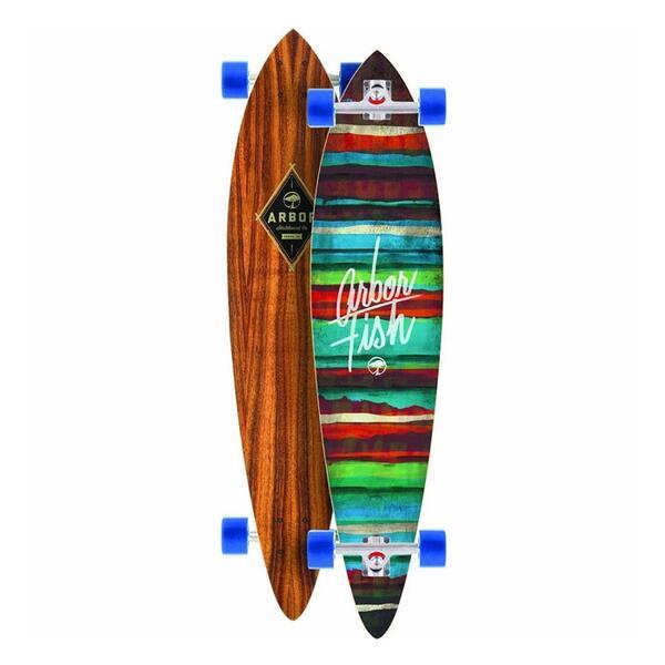 Arbor skateboards fish koa complete longboard sun and for Arbor fish longboard