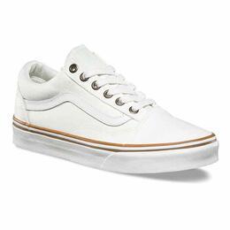 3ece8ccf301b8d Vans Women s Sun Faded Old Skool White Shoes