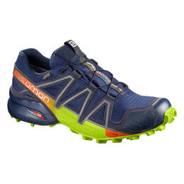 Salomon Men's Speedcross 4 GTX Trail Running Shoes Medieval Blue/Acid Lime