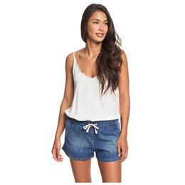 Roxy Women's Go To The Beach Elasticized Denim Shorts