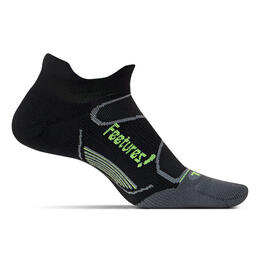Feetures Elite No Show Tab Light Cushion Socks Black/Reflector