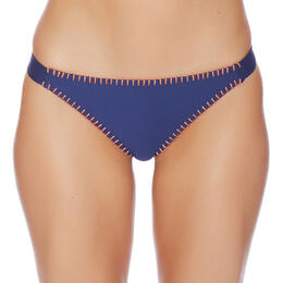 Splendid Women's Stitch Solid Tab Side Bikini Bottom