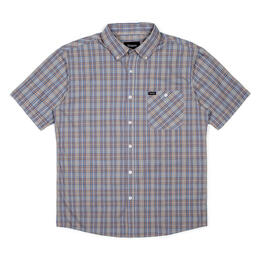 Brixton Men's Howl Short Sleeve Woven Shirt Steel Blue