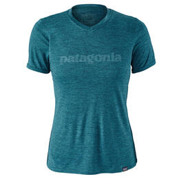 Patagonia Women's Capilene Daily Graphic Short Sleeve T Shirt Blue